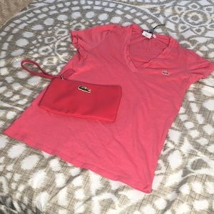Lacoste shirt with pouch